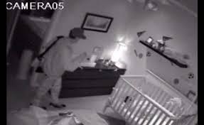 bedroom cameras security cameras record thief creeping around sleeping toddler s