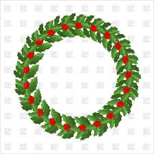 christmas mistletoe mistletoe wreath traditional christmas decoration vector image