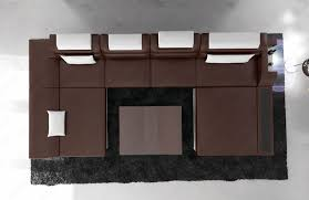 Big Sofa by Big Sectional Sofa Monza U Shaped With Led Lights Darkbrown White