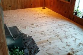 scraped wood flooring before or after installation