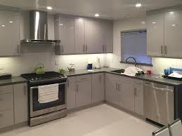 flat panel kitchen cabinet gray painting flat panel kitchen