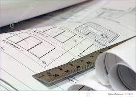 blue print building plans with ruler stock photograph i1178019 at