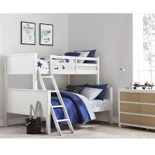 Twin Over Full Bunk Bed Designs by Dorel Living Your Zone Twin Over Full Bunk Bed White