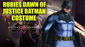 rubies batman dawn of justice costume review youtube
