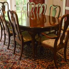 Mahogany Dining Room Furniture Drexel Heritage Mahogany Dining Room Table And Chairs Ebth