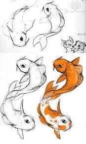 koi fish drawing steps by wenwecollide on deviantart art