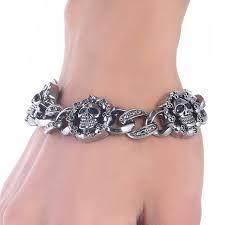 aliexpress com buy retro skull design chain bracelet men u0027s