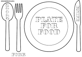 plate coloring page my plate method page to color image by kirsti