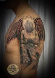 shoulder tattooo angel tattoo on man left shoulder strictly business pinterest