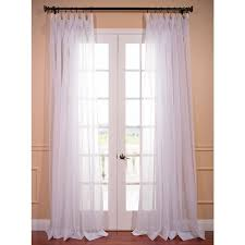 eff extra wide white poly voile sheer curtain panel 15595605 com ping