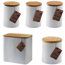 cheap kitchen canisters buy typhoon imprima embossed 5 set tea coffee sugar