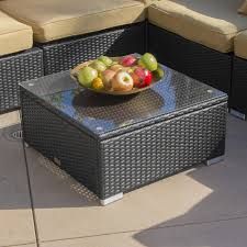 Aluminum Frame Wicker Patio Furniture - amazon com belleze 10pc outdoor patio furniture set black pe