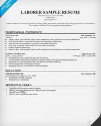 Sheet Metal Resume Examples Laborer Sample Resume Unforgettable General Labor Resume Examples