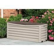 suncast 103 gallon light taupe resin deck box db10300 walmart com