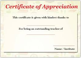 11 printable certificates of appreciation for teachers best
