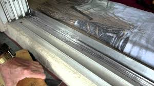 sliding door glass replacement home repairs 8 ft sliding door track repair youtube