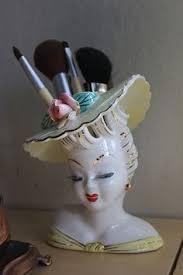 Vintage Lady Head Vases Vintage 1950s Ceramic Lady Head Vase Head Case Vases