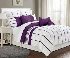 Cheap California King Bedding Sets Simple Bedroom With 8 Cal King Villa Purple White Bedding