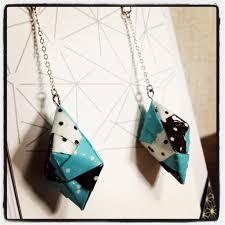 origami earrings handmade origami earrings polka dot edition leemo s