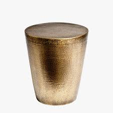 Drum Side Table Antique Brass Hammered Drum Side Table Dear Keaton