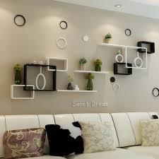 in livingroom tv background wall shelving cross creative lattice shelf wall
