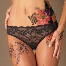 female stomach tattoos