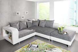 canapé d angle gris tissu canapé d angle design blanc tissu gris avec plateau en verre liberty