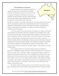 australia reading comprehension worksheets