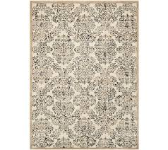 Qvc Area Rugs Inspire Me Home Decor 5 X7 Vintage Damask Area Rug Page 1