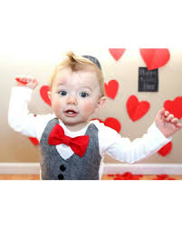 valentines baby amazing deal on baby boy clothes baby bow tie with vest