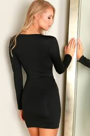 black bodycon dress buy sleeve black bodycon dress online trey