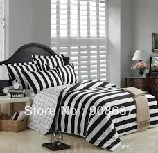 2018 black white stripes printed cotton men u0027s bedding set cheaper