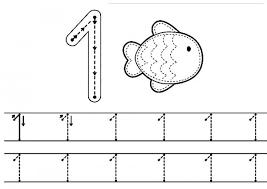 number one practice worksheet 10 funnycrafts