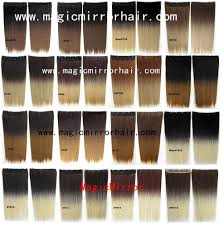 Two Tone Ombre Hair Extensions by Dip Dye Ombre Hair Clip In On Straight Synthetic Color Shade