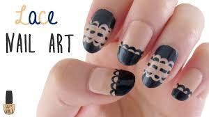 nail art lace design youtube