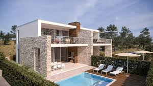 modern villas murter croatia land with a project for several modern villas on