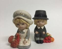 thanksgiving pilgrim figurines 10 inch pilgrim decor etsy