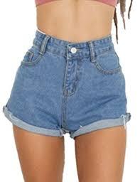 High Waisted Colored Jeans Haola Women U0027s Juniors Vintage Denim High Waisted Folded Hem Jeans