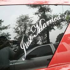 Diy Car Decor Just Married Vinyl Lettering Car Decal From Aimvinylsigns On Etsy