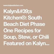 south beach diet phase 1 chili recipe meal plan to loose weight