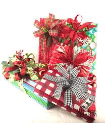 Gift Wrapping Accessories - christmas gift wrapping with silk flower scraps southern charm