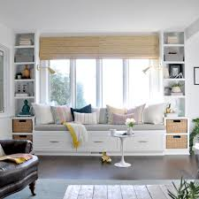 Built In Bench Seat With Storage Window Seat And Built Ins Reveal Befores Middles And Afters