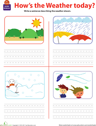 write about the weather science worksheets 1st grades and weather
