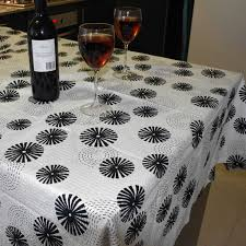 Oblong Table Cloth Cotton Tablecloth 145cm Seersucker Tablecloth Rectangle Or Round