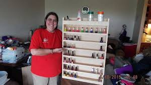 diy nail polish wood rack hometalk
