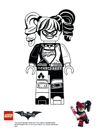 coloring page harley quinn the lego batman movie pinterest