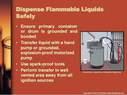 flammable storage cabinet grounding requirements osha compliance with flammable and combustible liquids