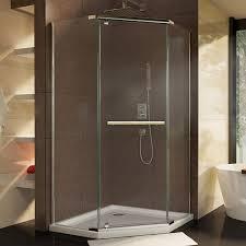 Bel Shower Door by Dreamline Prism 36 1 8 In D X 36 1 8 In W Frameless Pivot