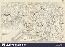 Genoa Italy Map by