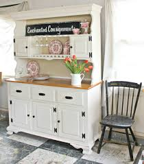 Vintage Desk With Hutch by Heir And Space A Vintage Hutch In Linen And Ivory